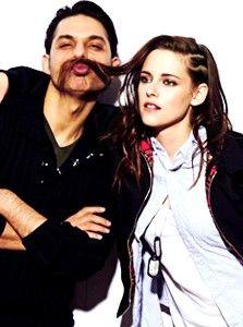 Kristen Stewart and Camp X-Ray co-star Peyman Moaadi at 2014 Sundance Film