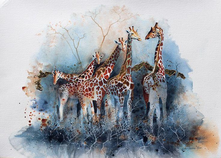Karen Laurence-Row  High Five 22.5x30in Watercolour £2,395