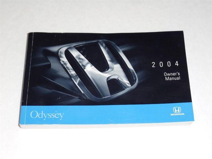 2004 Honda Odyssey Owners Manual Book Guide