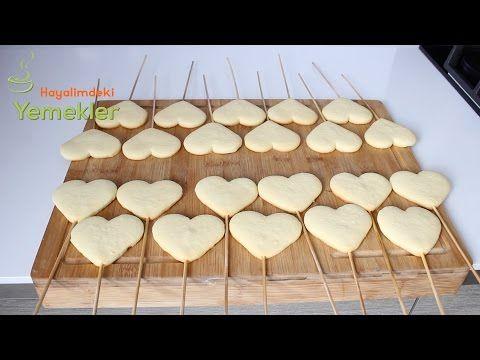 Çubukta Kalpli Kurabiye ( Özel günler için )  / Hayalimdeki Yemekler - YouTube