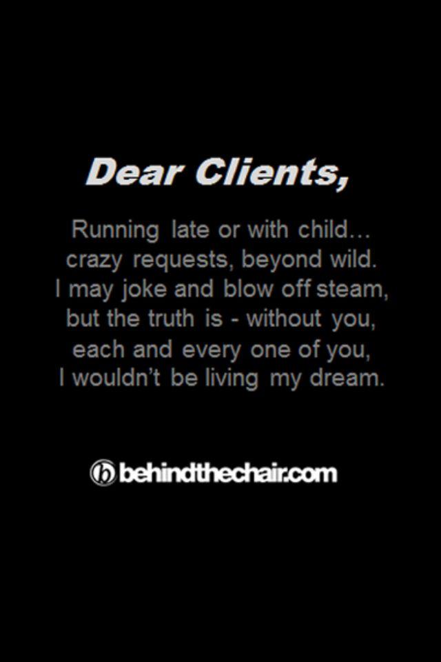 Dear Client...