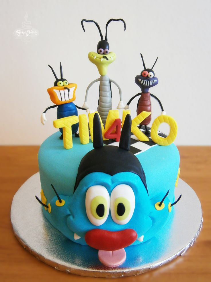 Oggy and the cockroaches cake