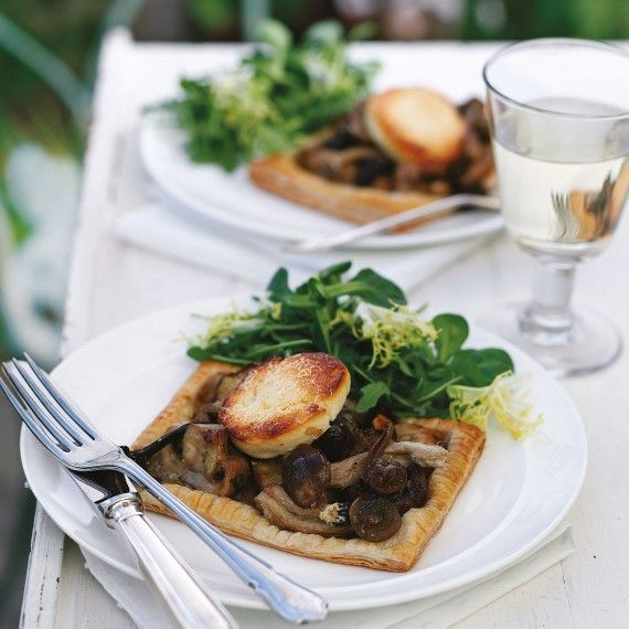 Christmas Dinner Starter - Mushroom, Goat's Cheese and Tarragon Tartlets Recipe-recipe ideas-new recipes-woman and home