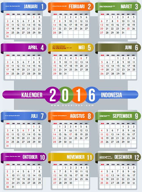 download kalender 2016 pdf dan vector cdr training pinterest dan. Black Bedroom Furniture Sets. Home Design Ideas