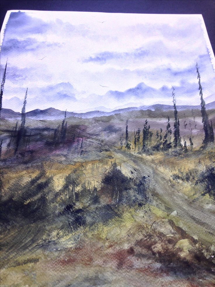 Watercolor Painting / Handmade / Gift / Wall Hanging / Home Decor / Landscape / Nature / Size: Height 19.6 Inches X Width 13.7 Inches