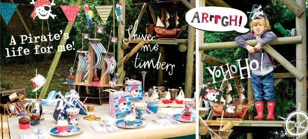 Piraten Thema - www.confettienco.be #decoratie #verjaardag #feest #piraat #jongens #slinger #webshop