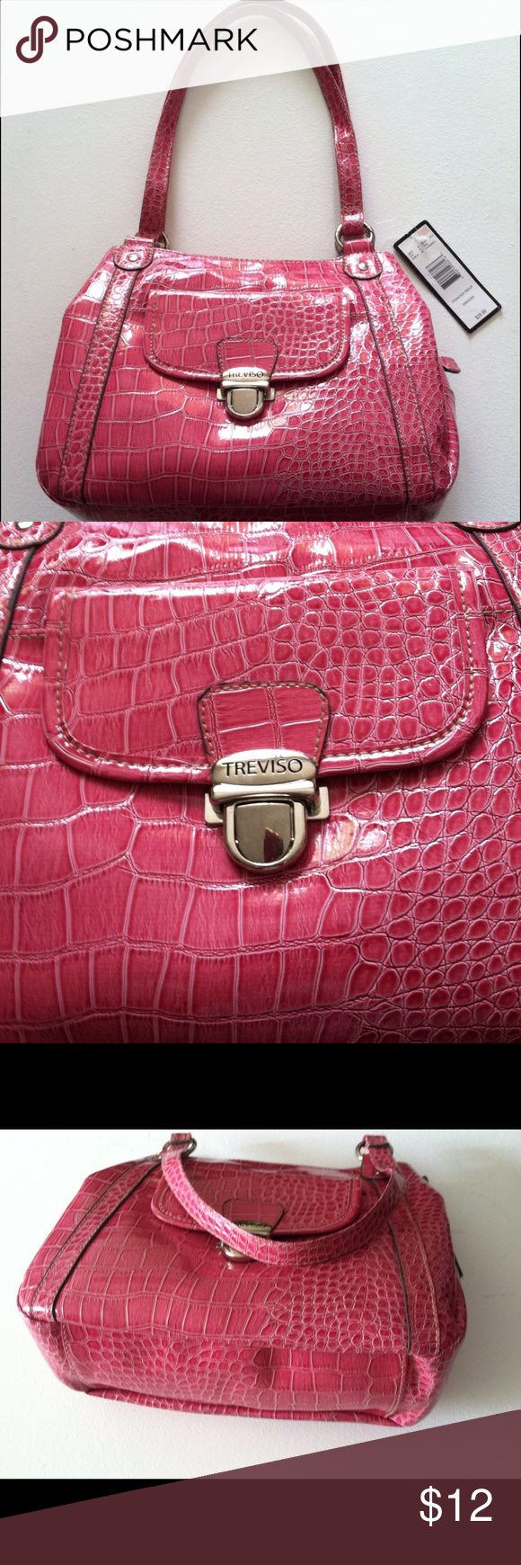 $ Final $ Pink SHOULDER PURSE BRAND NEW Super cute brand new pink purse - many compartments. Shop early for CHRISTMAS ! treviso Bags Shoulder Bags