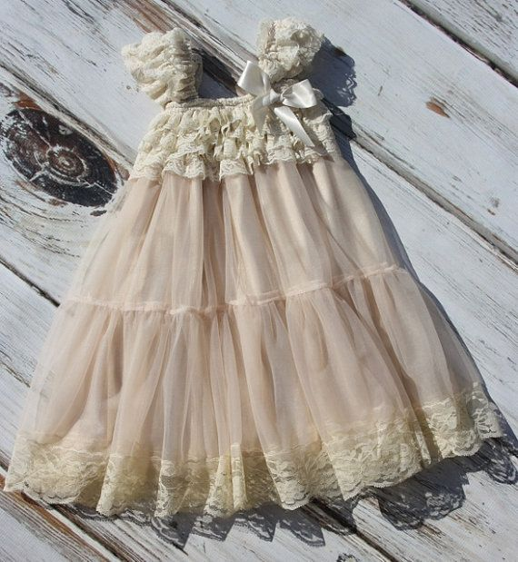 Hey, I found this really awesome Etsy listing at https://www.etsy.com/listing/205658517/champagne-chiffon-girls-dress-flower