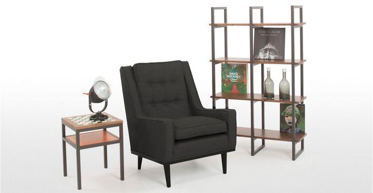 Scott Retro Armchair in deep grey | made.com
