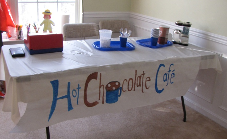 Hot Chocolate Cafe--dramatic play ideas for next year