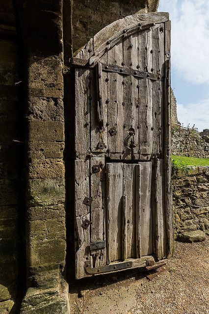 Carisbrooke Castle, 700 year old doors - Isle of Wight, England