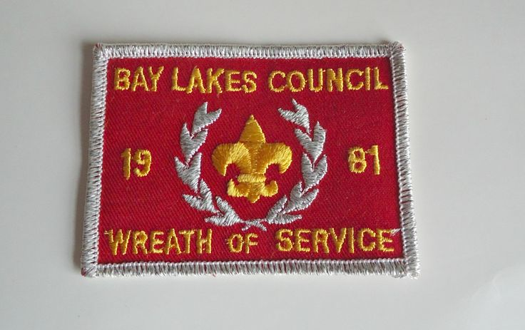 Vintage Boy Scouts Patch Bay Lakes Council Embroidered Badge 1981 by treasurecoveally on Etsy