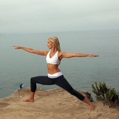 Beach yoga at the KeaLani