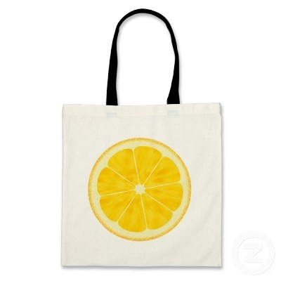 #lemon #yellow #fruit #bag #zazzle