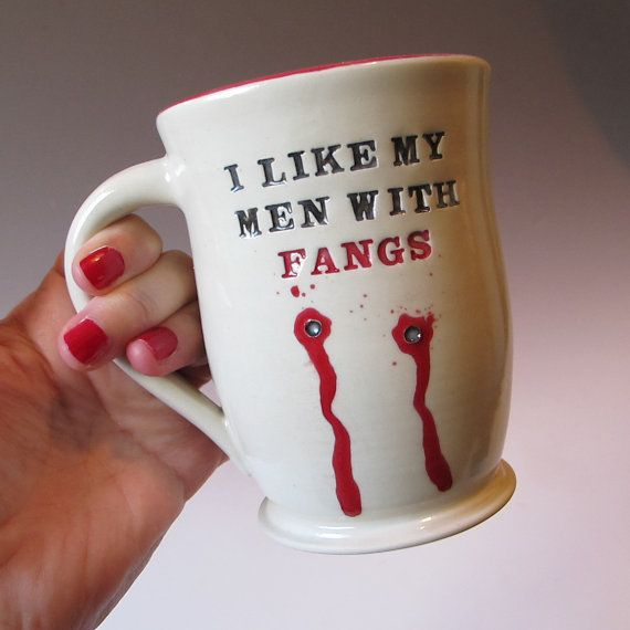Custom Vampire Bite Mug  True Blood  Made to Order by MaidOfClay, $32.00
