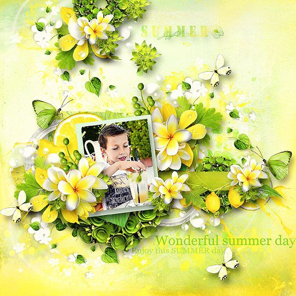 Lemony Freshness by Lilas Digiscrap template INSD2014 freebie by Eudora Designs