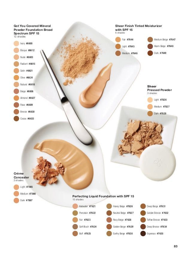 Arbonne Foundation Shades #arbonne #foundation #makeup