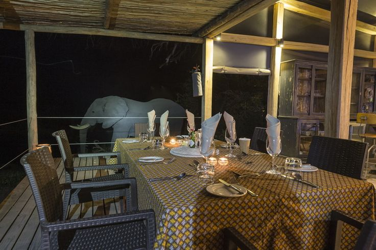 Built on a slightly raised deck with impressive views, the main area of Linyanti Tented Camp is the perfect place from which to watch the passing parade of wildlife and for convivial relaxation.