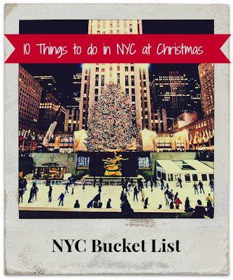 NYC Christmas Bucket List