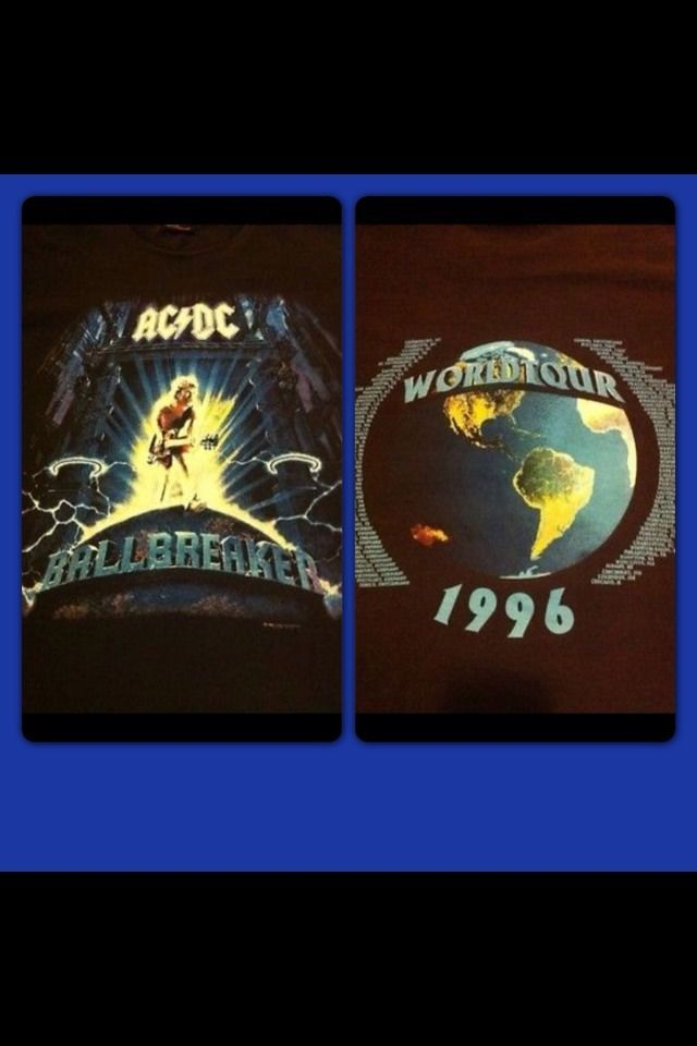 AC/DC BALLBREAKER Concert Shirt True Vintage1996 Concert Shirt Lg Mint Condition #Brockum #truevintageconcertshirtsacdcBallbreaker