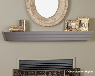 Cascade - Wood Mantel Shelf - Fireplace Mantel Shelves - MantelsDirect.com