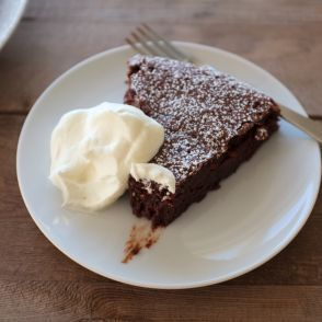 Flourless Fudge Cake with Whipped Cream by Jessica Seinfeld