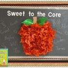 """Now your kiddos can be """"Sweet to the Core"""" with this cute apple bulletin board letters freebie with complete instructions on how to put this quick ..."""