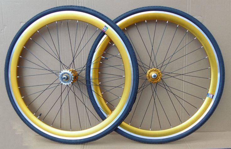 NOLOGO GOLD Single Speed wheelsets Fixed Fixie 700c flip-flop hub Wheelsets