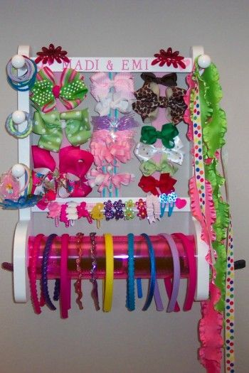 I am looking for something to help me keep the girls' hair accessories organized and neat.