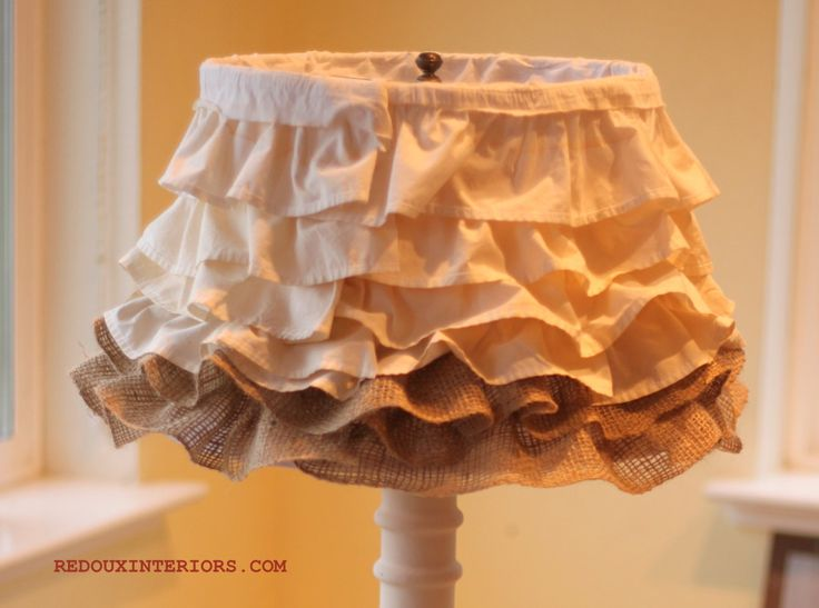 221 best home decor lamps shades lighting images on easy ruffled lampshade using recycled materials aloadofball Gallery
