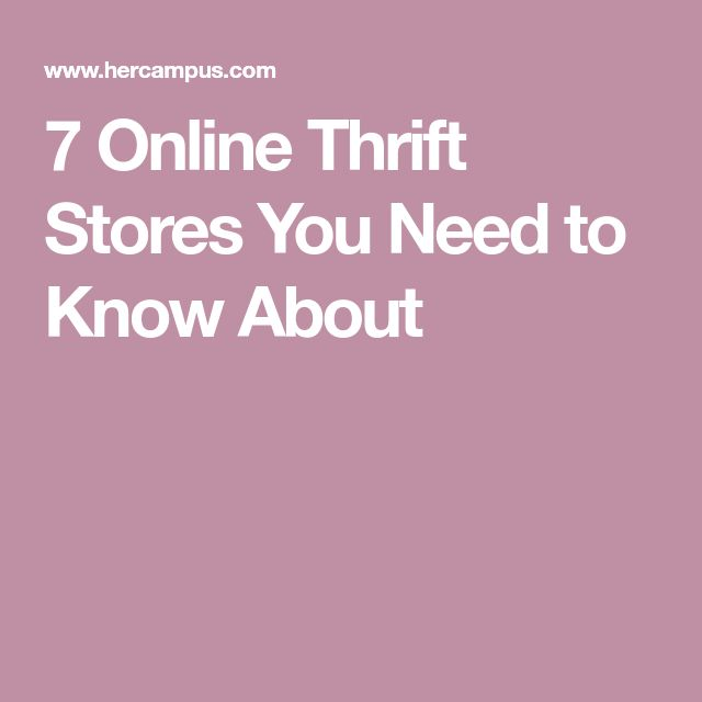 7 Online Thrift Stores You Need to Know About