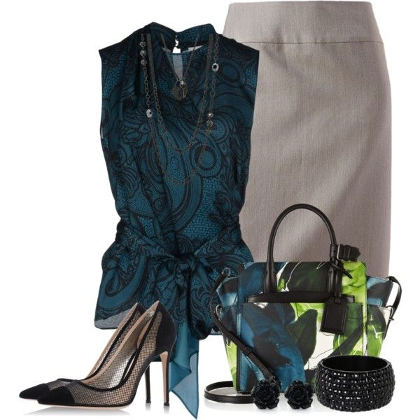 A fashion look from March 2014 featuring Emilio Pucci tops, 212 Collection skirts and Gianvito Rossi pumps. Browse and shop related looks.