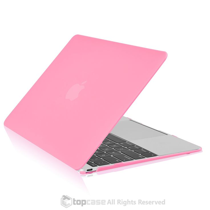 "Apple the New Macbook 12-Inch 12"""" Retina Display Laptop Computer Pink Rubberized Hard Shell Case Cover for Model A1534 (Newest Version 2015)"