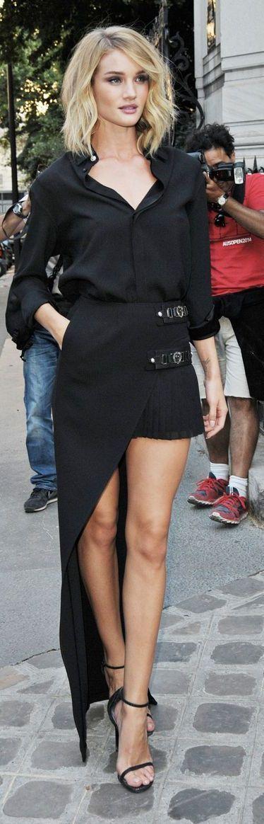 Rosie Huntington-Whiteley - Vogue Party arrival, Paris, July 6, 2015. .