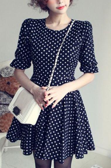 Polka Dots Print Dress