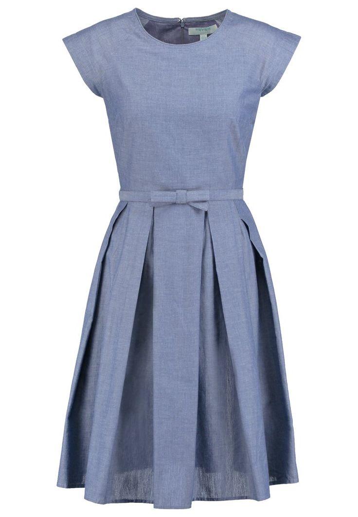 Fever London MARY jeansowa rozkloszowana Sukienka letnia denim