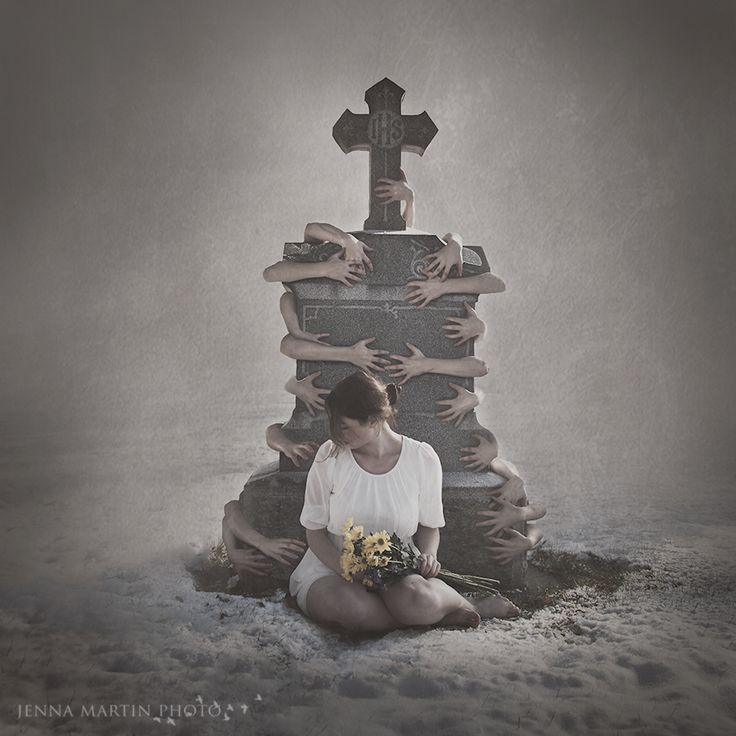 Hands and a graveyard on Halloween! Conceptual and Surreal photography by Jenna Martin Photograph