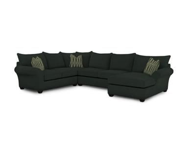 Shop For Klaussner Fletcher Fabric Sectional, 36000 FAB SECT, And Other  Living