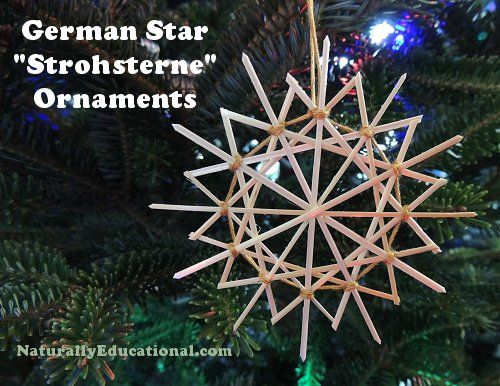 German Straw Star Ornaments | Naturally Educational