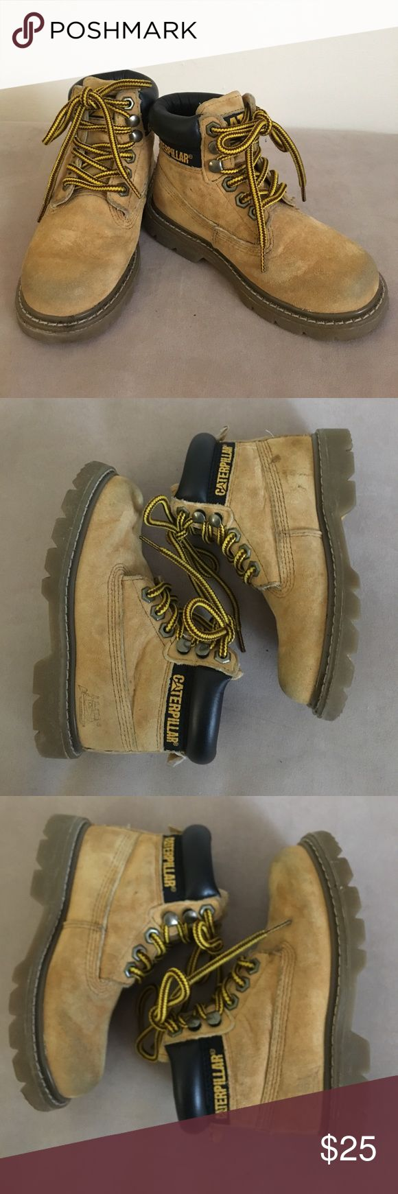 Caterpillar kids 10.5 lace up leather work boots Authentic Caterpillar kids 10.5 lace up leather work boots. Caterpillar Shoes Boots