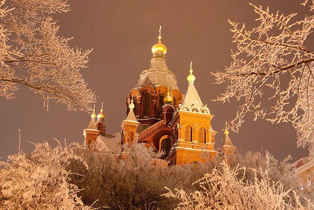 Helsinki Uspenski Cathedral in Winter by lassi.kurkijarvi