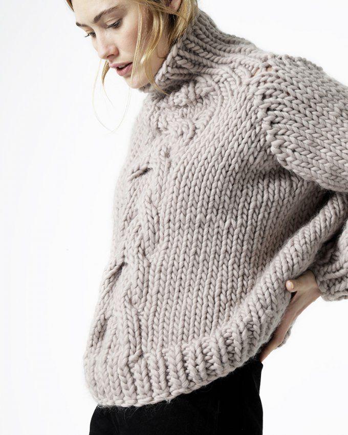 10 patrons pour tricoter un pull oversize Marie Claire