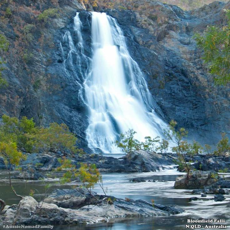 Bloomfield River Falls, Cooktown, Queensland, Australia.