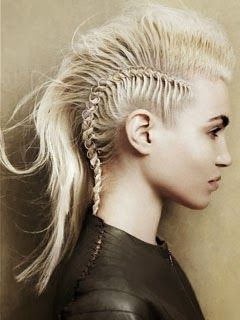 Fotos de penteado moicano feminino com tranças