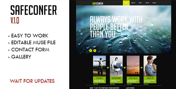 Safe Confer Muse Template - Muse Templates