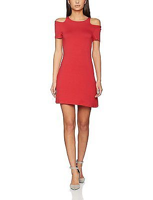 X-Large, Red, Springfield Women's 4.Pc. Vestido Rojo Hombro Casual Dress NEW
