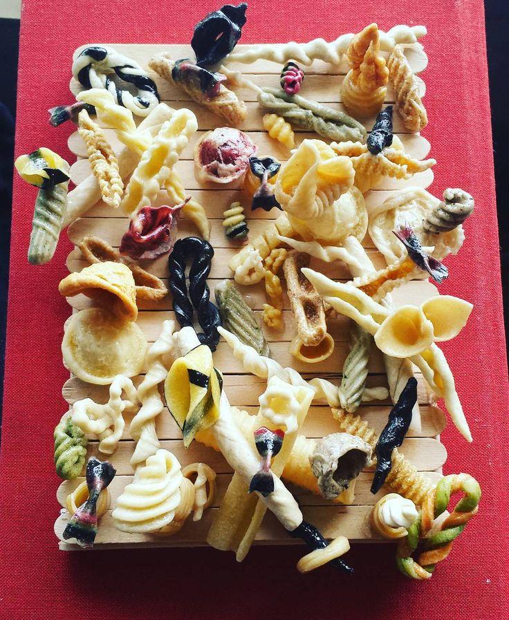 突然フォローの数があああ  thank you instagram blog   my world of pasta day  dried short pasta  glued onto the DIY flame  乾燥したパスタをボンドでくっつけて透明マニュキュアで艶出しダラーストアーサマサマ  #pasutayasan #masterpiece#handmadepasta #pastafattaincasa #thegeometryofpasta #worldpastaday2015 #手作り生パスタ#パスタ #thankyouforfollowing by miyukiadachi