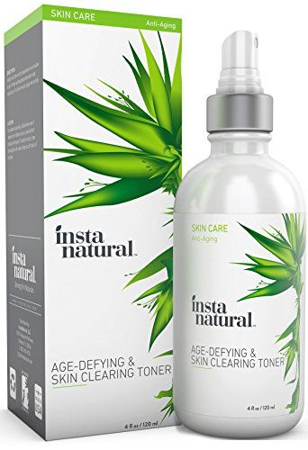 InstaNatural Vitamin C Skin Clearing Toner  Natural and Organic Anti Aging Formula with Salicylic Acid  Hyaluronic Acid  Helps with Wrinkle Dark Spot  Fine Lines  Safe for Sensitive Skin 4oz ** Click image for more details.
