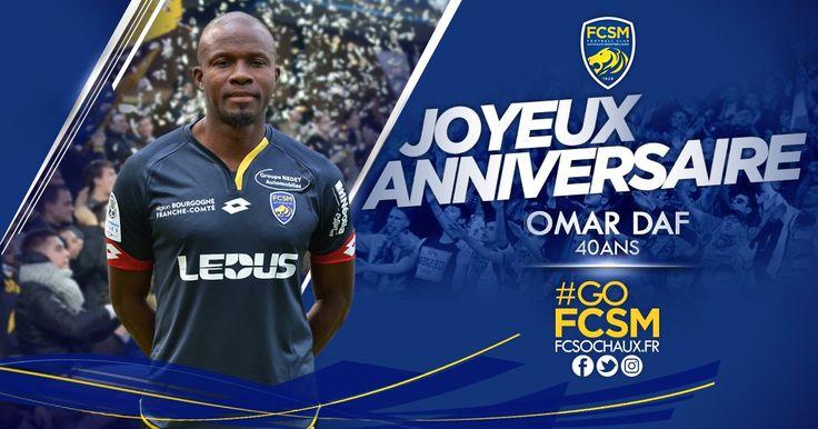 On souhaite tous un très bon #anniversaire à Omar Daf, entraîneur adjoint en charge de l'équipe réserve du FCSM, 40 ans aujourd'hui !