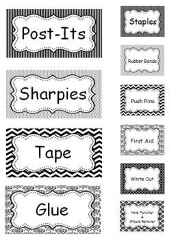 Teacher Toolbox (Black & White Themed)